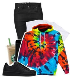 """Rainbow Sweatshirts"" by xrejectxx ❤ liked on Polyvore featuring adidas"