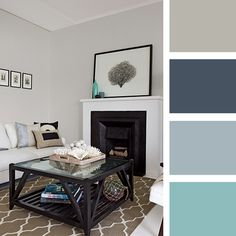 Capture the magic of an ocean storm with greys and blacks for a strong, elegant interior that demands your attention. #taubmanscolour #colourpalette #livingroom  #beachhouse