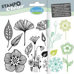 Stampo Clear - Tampons Acrylique Fleurs