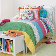 Girls Bedding: Girls Embroidered Patchwork Bedding Comforter