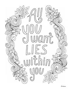 All You Want Lies Within You : Notes From the Universe Colouring Book by Mike Dooley #words