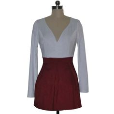 Contrast color style,fashion and popular. Deep v-neck design,showing your seductive cleavage. Long sleeve and high waist design,perfect outline your slender figure. Dressing it with your sexy heels and charming hairdo,you are irresistible