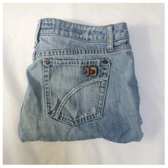 Joes Jean shorts Joes Jean cut offs. Very unique pocket design. These are preloved fair condition. Photos listed of the wear. These were once jeans and made into cut off. Joe's Jeans Shorts Jean Shorts