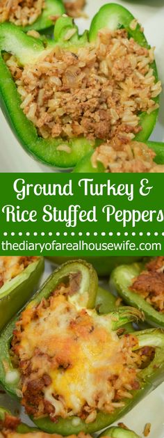 The BEST ground turkey and rice stuffed peppers.
