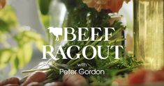 In this cooking video, celebrity chef, Peter Gordon shows us a Kiwi take on an easy Beef Ragout. Beef Ragout, Kiwi Recipes, Celebrity Chef, Cooking Videos, Herbs, Easy, Herb, Spice