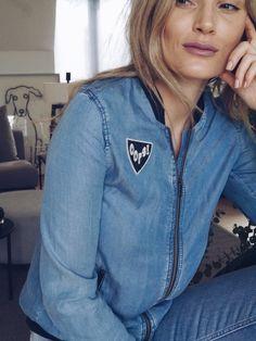 Zara denim bomber jacket