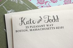 Custom Address Stamp - Self Inking Address Stamp - Wedding Gift - Housewarming Gift. $30.00, via Etsy.