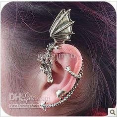 Cuff Ear 24pcs Fashion Jewelry Gothic Punk Personalized Retro Dragon-shaped Earrings Stud