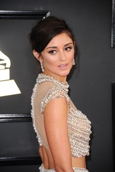Caroline DAmore #CarolineDAmore on Red Carpet  GRAMMY Awards in Los Angeles 12/02/2017 Celebstills C Caroline DAmore Grammy Awards 2017