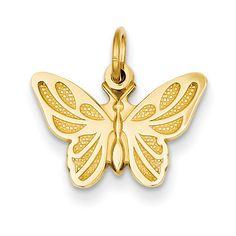 14k Butterfly Charm C537