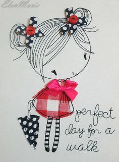 Girl with umbrella Applique Machine Embroidery Design, Perfect day for a walk Embroidery Design, Applique girl, Embroidery Design This design is manually digitized by myself, not auto digitizing. W: mm inches) H: mm inches) Stitches: 4567 Colors: 1 Hoop Machine Embroidery Applique, Embroidery Hoop Art, Hand Embroidery Designs, Embroidery Files, Embroidery Stitches, Embroidery Patterns, Embroidery Jewelry, Machine Embroidery Projects, Watercolor Clipart