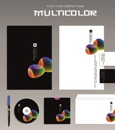 Different Corporate business kit mix vector 01