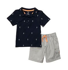 Carter's® Baby Boys' Navy 2-pc. Anchor Print Shorts Set at www.bonton.com