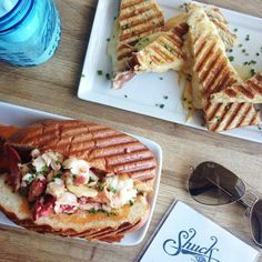 Lobster Roll and Grilled Cheese / jchongstudio on instagram