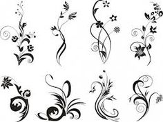 arabescos vectores