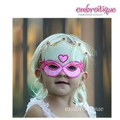 Princess Mask Set, In The Hoop - 3 Sizes! | Featured Products | Machine Embroidery Designs | SWAKembroidery.com