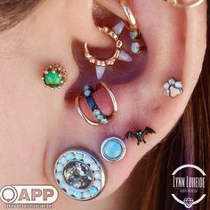 """227 Likes, 4 Comments - AMATO Fine Jewelry & Piercing (@amatopiercing) on Instagram: """"Lynn has been working with danielle for this amazing ear project. They recently added the third…"""""""