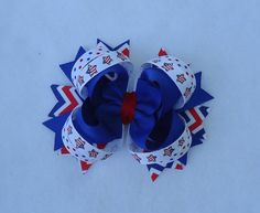 Basic Bow for July 4th Medium Boutique by LizzyBugsBowtique, $5.75