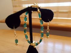 Cross Bracelet & matching earrings by SecChnceTreasure on Etsy, $12.95