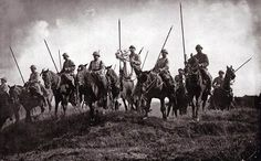 French cavalry in early WW1. A squadron of Lancers takes up positions. Cavalry units were almost immediately sidelined in the absence of 19th-century style war fighting. Horse soldiers spent the rest of the war as either infantry or logistics troops -- with a few recon missions here and there.