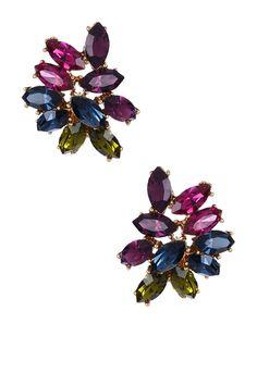 Swarovski Multicolor Cluster Post Earrings
