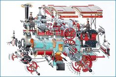 Stephen Biesty - Illustrator - Poster and Exhibitions - Traction Engine