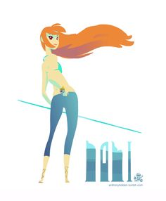 Nami fan-art animated gif by Anthony Holden