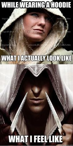 Best Funny Quotes : YUP! Especially when Im wearing my Assassins Creed hoodie. #AssassinsCreed Mom Assassins Creed Hoodie, Assassins Creed Quotes, Deutsche Girls, Asesins Creed, Xbox, Surfer, Funny Games, Fun Funny, Dimples