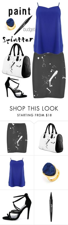 """""""Untitled #358"""" by stephanie-visconti ❤ liked on Polyvore featuring BaubleBar, Glaze, Maybelline, Budget and paintsplatter"""