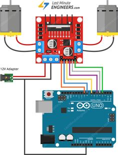 Learn about Motor Driver module along with PWM, H-bridge Working, Pinout, Wiring, Arduino Code for controlling speed & direction of DC motor. Diy Electronics, Electronics Projects, Arduino Stepper, Robot Platform, Wooden Desk Lamp, Build A Robot, Diy Cnc Router, Programming Tutorial, Raspberry Pi Projects