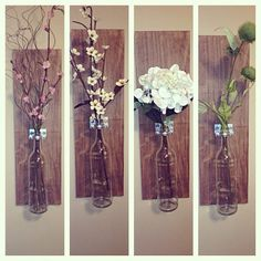 Wooden Wine Bottle Holder Wall Sconce by thebeezeknees on Etsy, $25.00