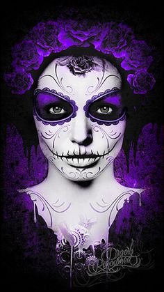 Angie Day of the Dead purple Catrina by Digoil. digoilrenowned.com