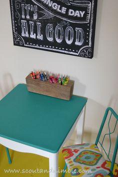 Kid's Table Make-over