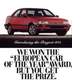 Publicité Peugeot 405 USA