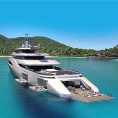 The Top 10 Luxury Yachts You Need to Know - Vida de Luxúria Super Yachts, Big Yachts, Yacht Design, Boat Design, Web Design, Yacht Interior, Interior Design, Billionaire Lifestyle, Yacht Boat