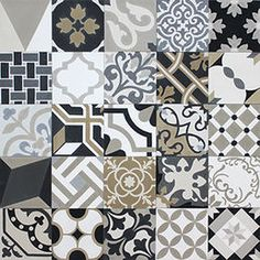 Patchwork, Grey-Beige