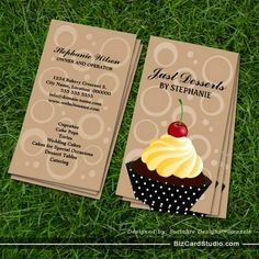 Cupcake Bakery Business Cards