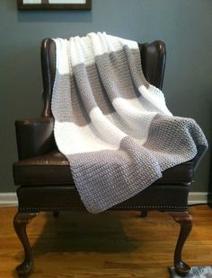 Gray Street Crochet Blanket perfect color for me!