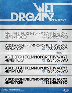 Wet Dreamz Font by Weslo11.deviantart.com on @DeviantArt