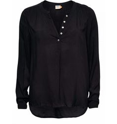 zwart hemd FALLOW LS SHIRT WVN