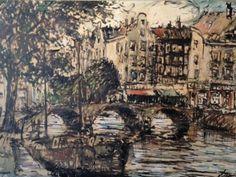 Clement van Vlaardingen 1916-1972 Stadsgezicht @Amsterdam Techniek: olieverf op doek http://www.plepsart.nl