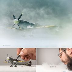 To be creative you have to keep your inner child alive. Mexican photographer Felix Hernandez Rodriguez is a grown-up who'snever stopped playing. He creates his majestic photographsincluding small toys.