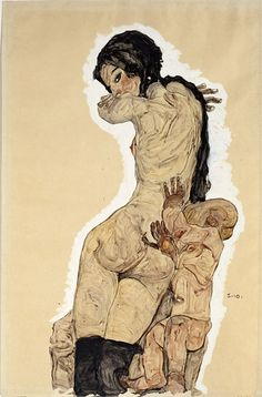 Egon Schiele ........ so beautiful the line. so complete in form. color , so preoccupied/limited in subject.... Sadly so much lost.