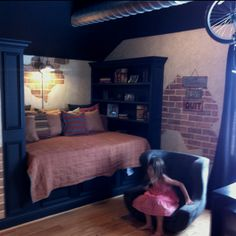 Built in bed for a kids room.  AWESOME