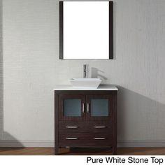 Virtu USA Dior 32 inch Single Sink Vanity Set in Espresso