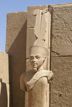 AMUN, KING OF THE GODS – usually depicted with two plumes on his head, holding the ankh symbol and the was scepter. He was attested since the Old Kingdom together with his spouse Aauret. With the 11th dynasty, he rose to the position of patron deity of Thebes by replacing Monthu. After the rebellion against the Hyskos, & with the rule of Ahmose I, Amun acquired national importance, expressed in his fusion with the Sun God, Ra, as Amun-Ra.
