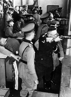 Heinrich Himmler at a shooting range, 1934