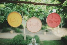 I think these would be cute with different words over a head board or in a laundry room.