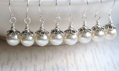 Hey, I found this really awesome Etsy listing at https://www.etsy.com/listing/163964191/bridesmaid-gift-earrings-ivory