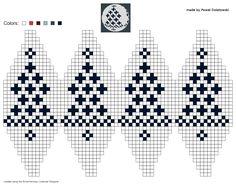 knitting chart made by Pawel Dolatowski - Handarbeit, Diy Abschnitt, Knit Christmas Ornaments, Nordic Christmas, Fair Isle Chart, Crochet Ball, Plastic Canvas Ornaments, Christmas Knitting Patterns, Christmas Templates, Square Patterns, Knitting Charts